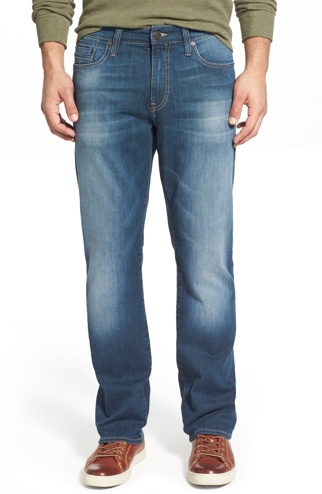 Mavi Jeans Myles Straight Leg Jeans (Shaded Williamsburg)
