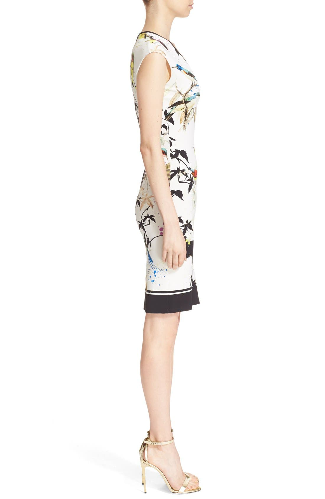 Alternate Image 5  - Roberto Cavalli Bird & Floral Print Jersey Dress