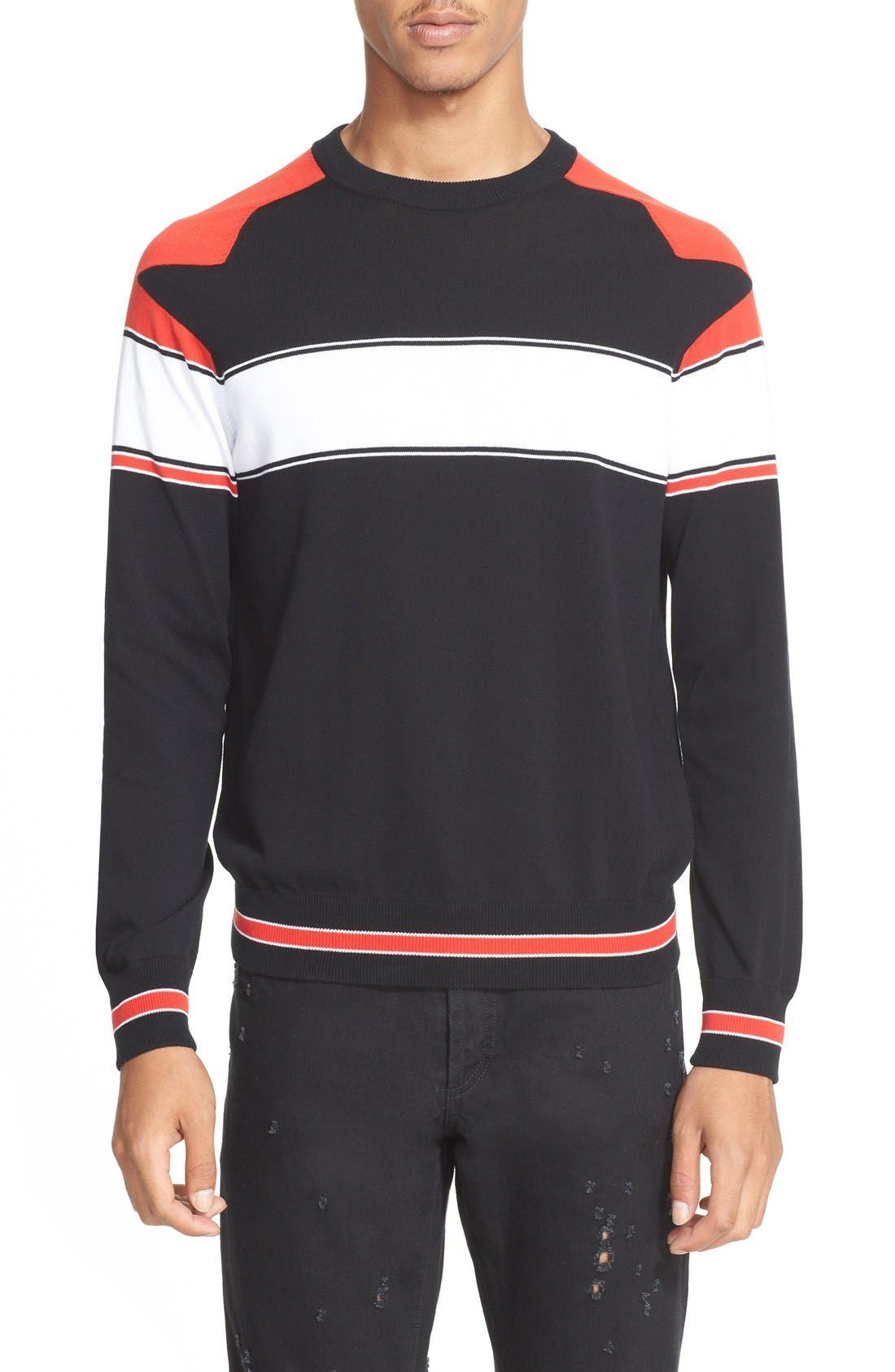 Alternate Image 1 Selected - Givenchy Stripe Raglan Sleeve Sweater