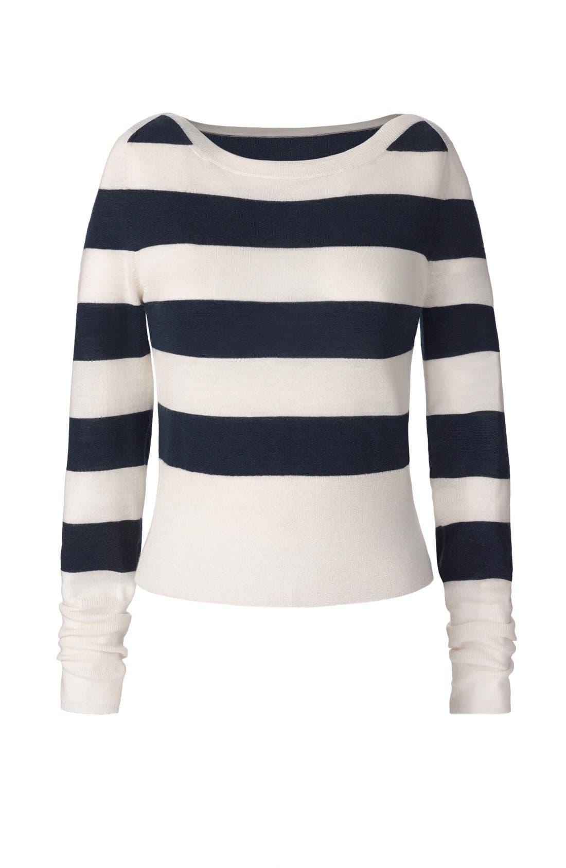 Alternate Image 7  - Olivia Palermo + Chelsea28 Stripe Wool & Cashmere Pullover