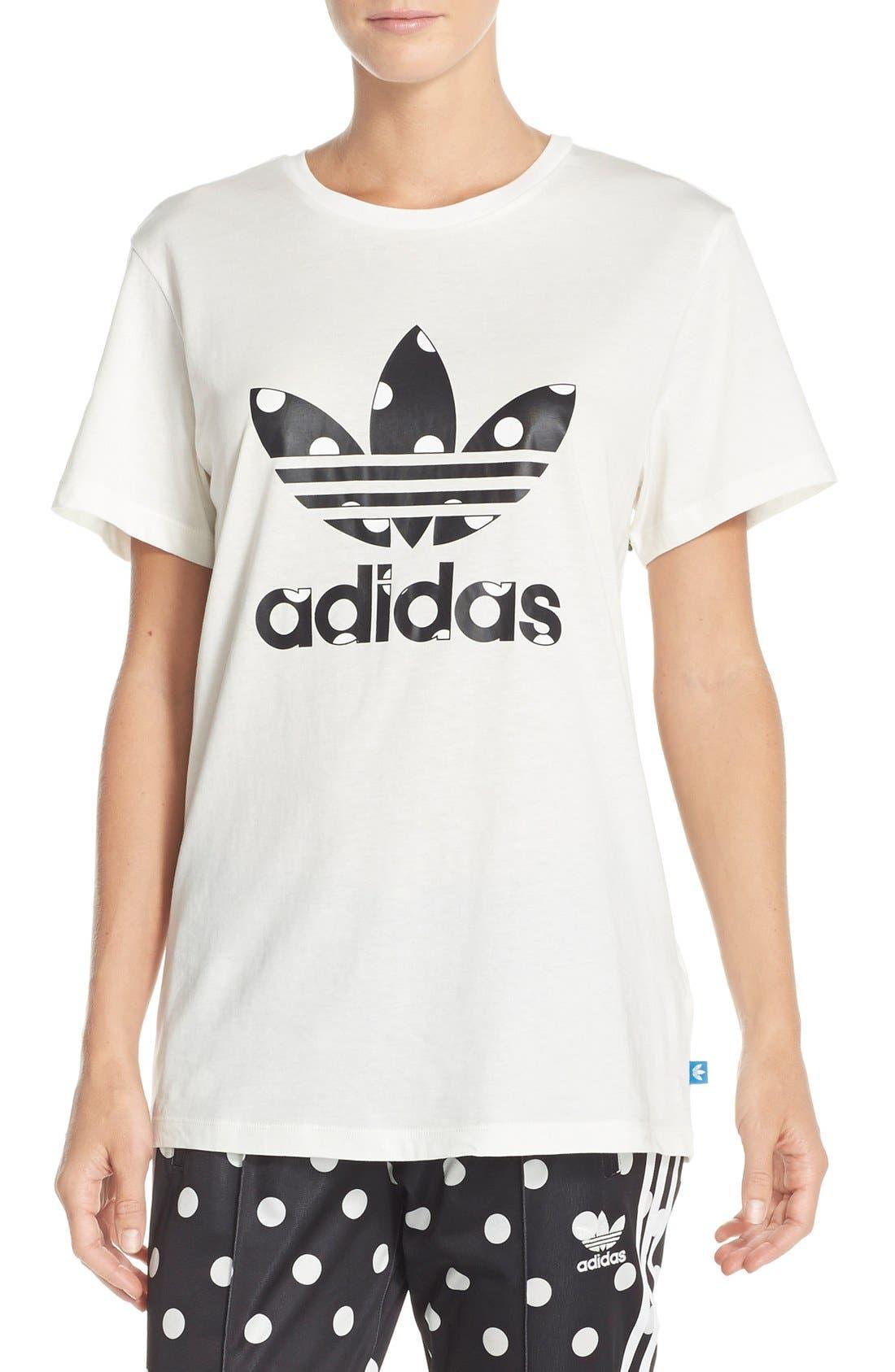 Alternate Image 1 Selected - adidas Originals 'Big Logo Dots' Tee