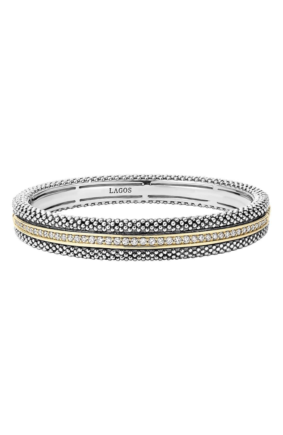 LAGOS Diamond Caviar Bangle Bracelet