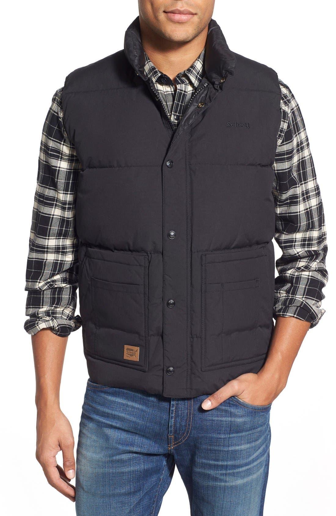 Schott NYC Waterproof Down Vest