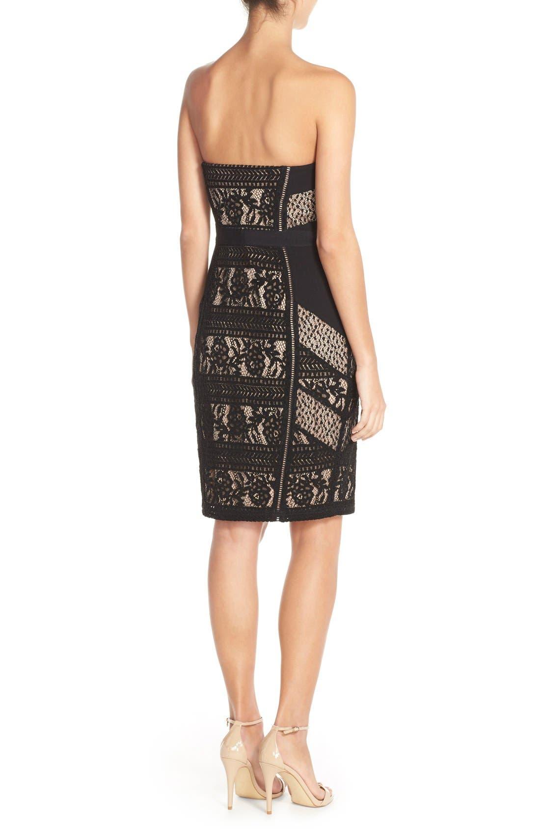 Alternate Image 2  - Adelyn Rae Lace Strapless Dress