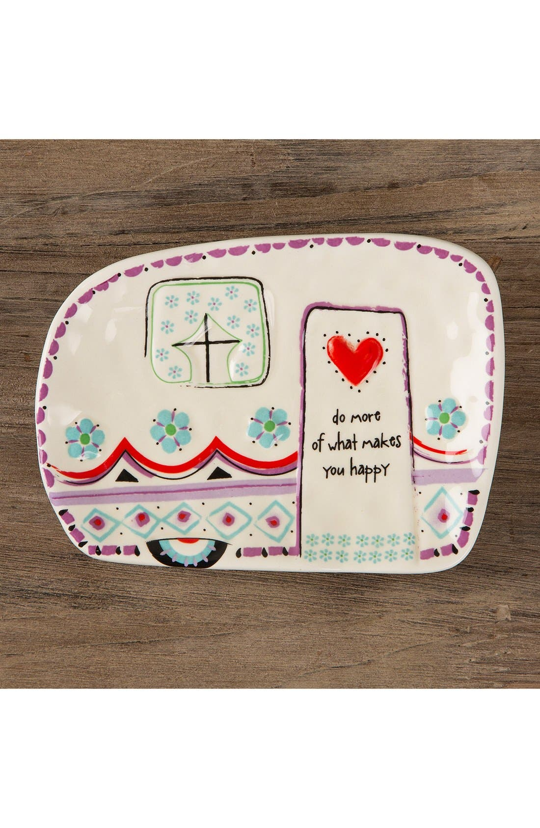 Alternate Image 2  - Natural Life 'Do More of What Makes You Happy' Ceramic Trinket Tray