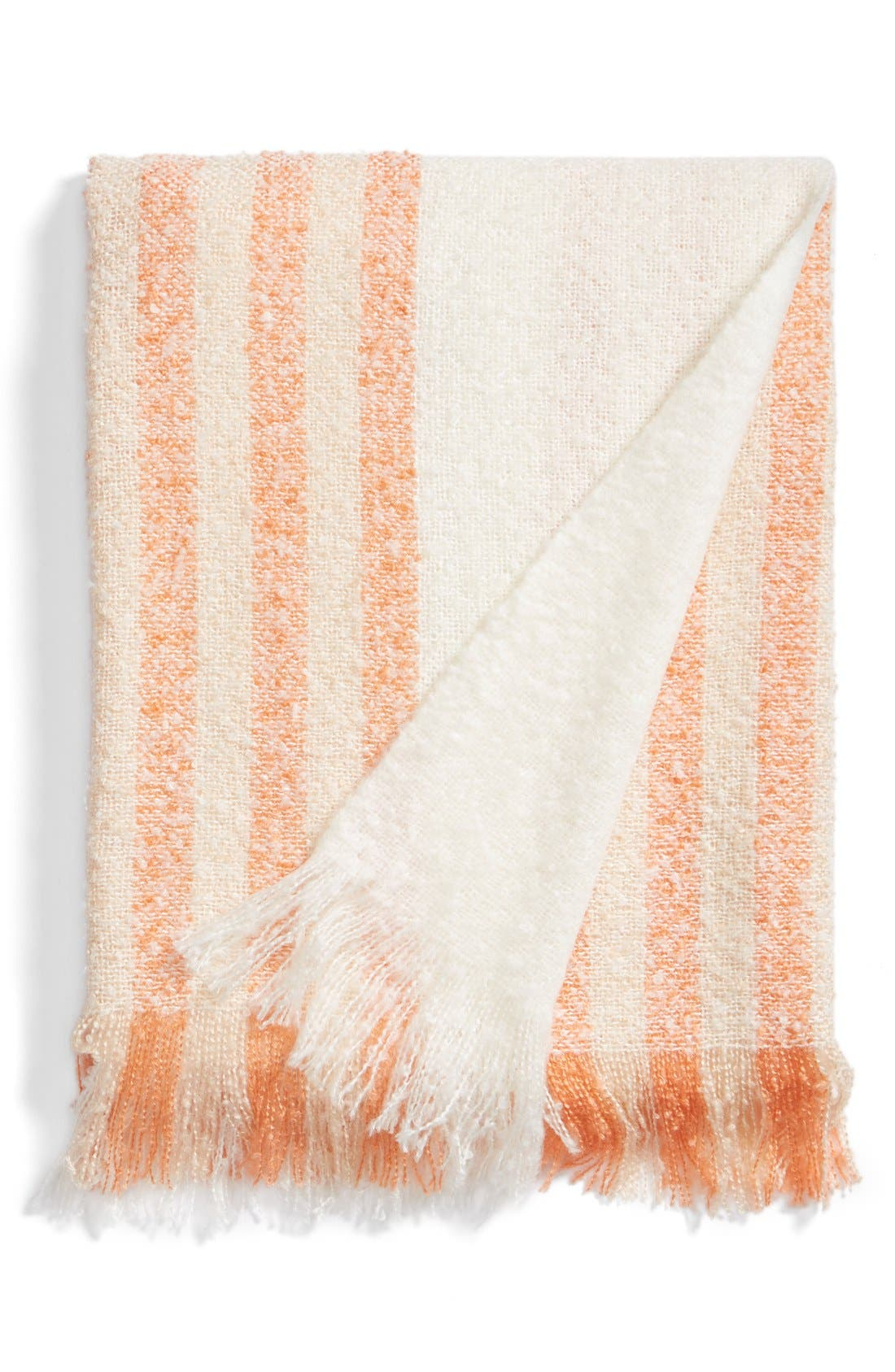 Alternate Image 1 Selected - Nordstrom at Home Stripe Knit Throw