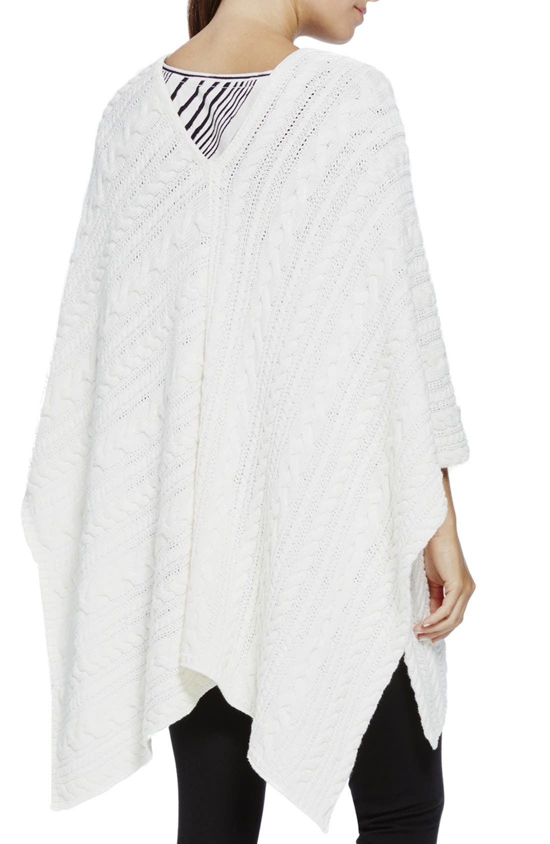 Alternate Image 2  - Two by Vince Camuto Cable Knit V-Neck Poncho
