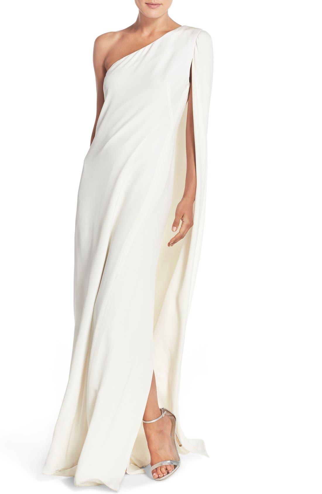 Alternate Image 4  - Jill Jill Stuart Cape Sleeve Crepe Gown