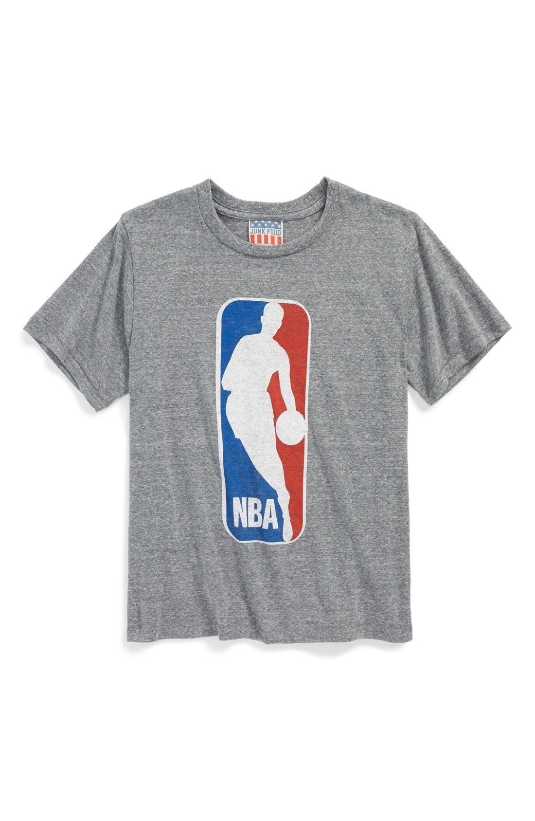 Alternate Image 1 Selected - Junk Food 'NBA Logo' Graphic T-Shirt (Toddler Boys, Little Boys & Big Boys)