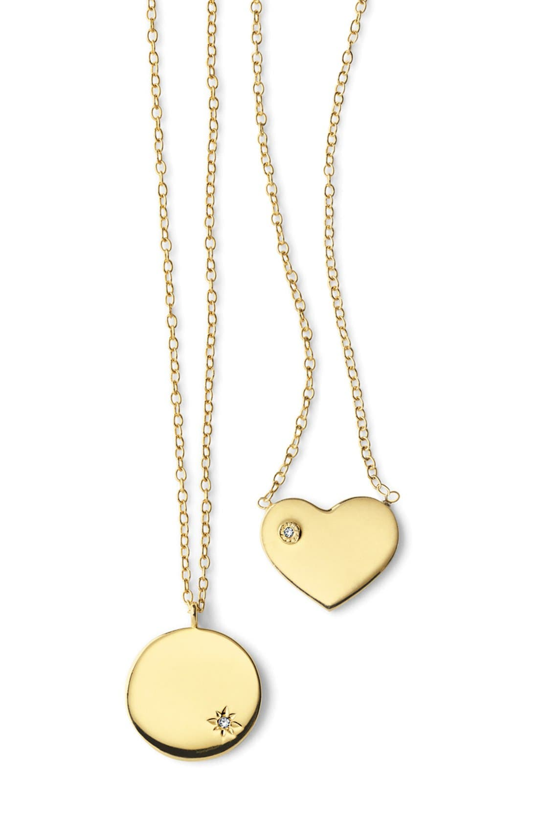Alternate Image 4  - Argento Vivo Diamond Accent Heart Necklace
