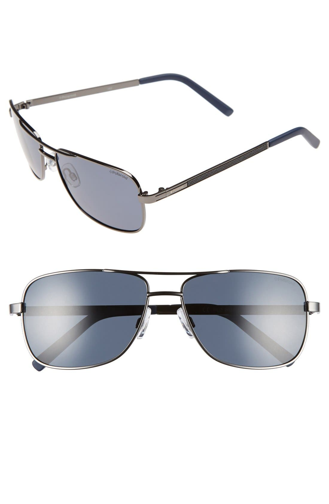 Polaroid Eyewear 58mm Polarized Navigator Sunglasses