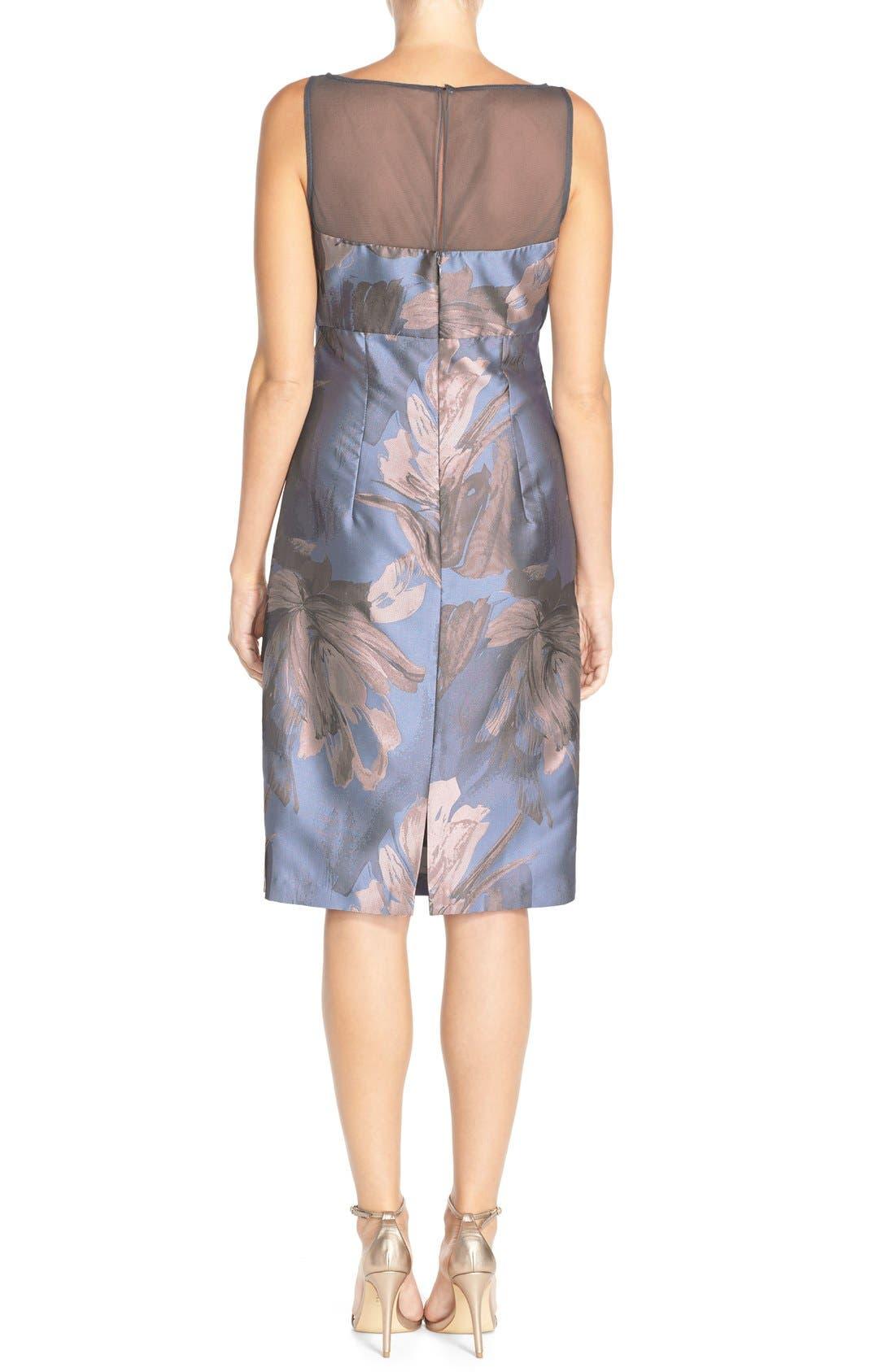 Alternate Image 2  - Maggy London 'Splash' Floral Jacquard Sheath Dress (Regular & Petite)