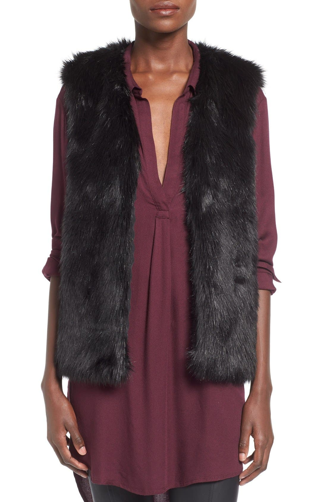 Alternate Image 1 Selected - WAYF Faux Fur Vest