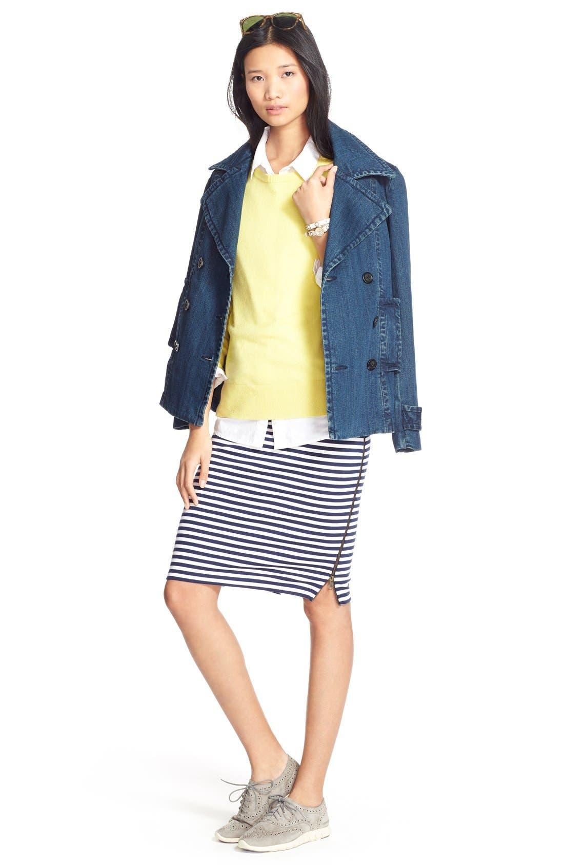 Alternate Image 2  - Caslon® Zip Detail Tube Skirt