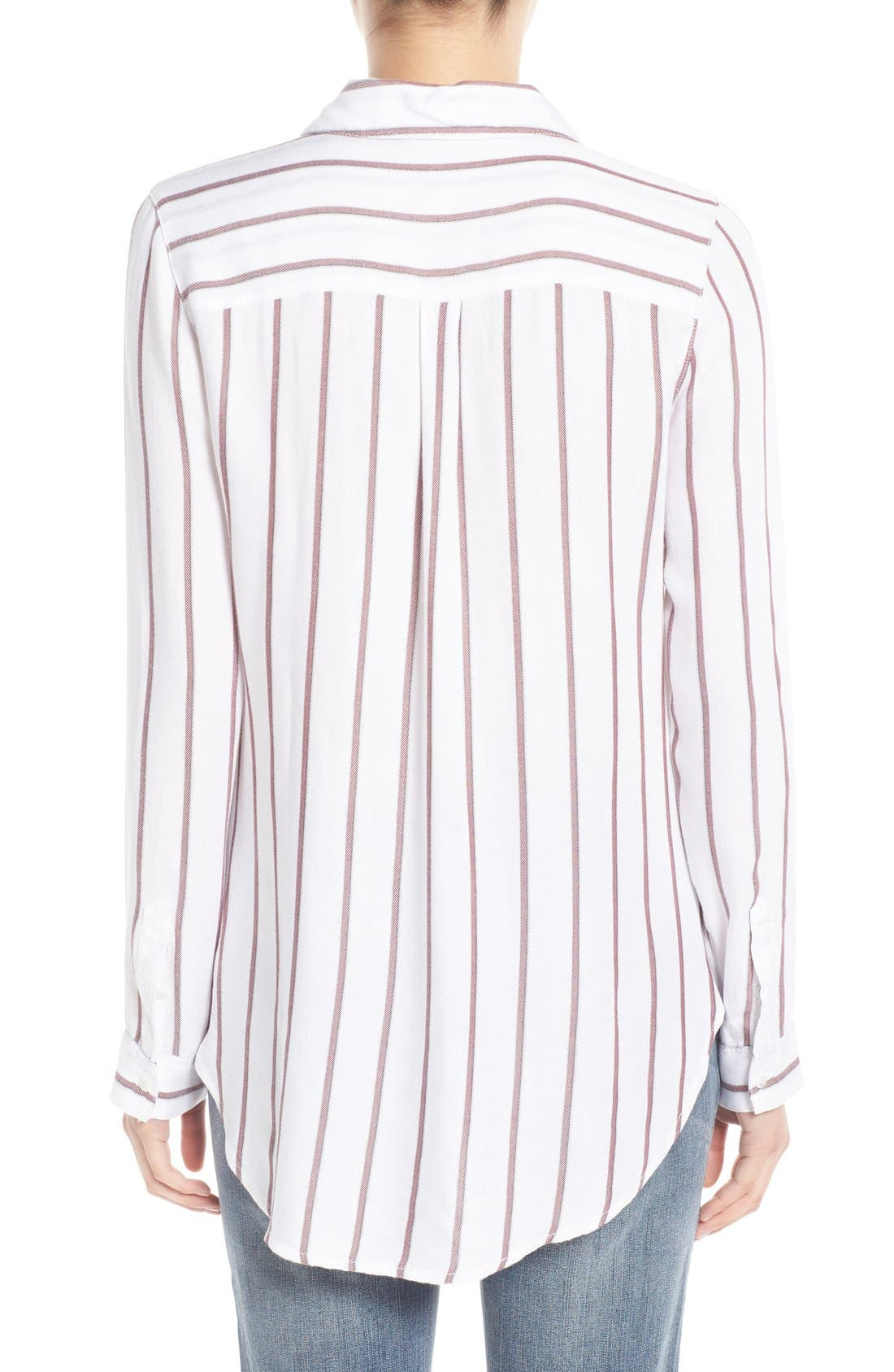 Alternate Image 2  - Treasure&Bond Stripe Button Front Tunic Shirt