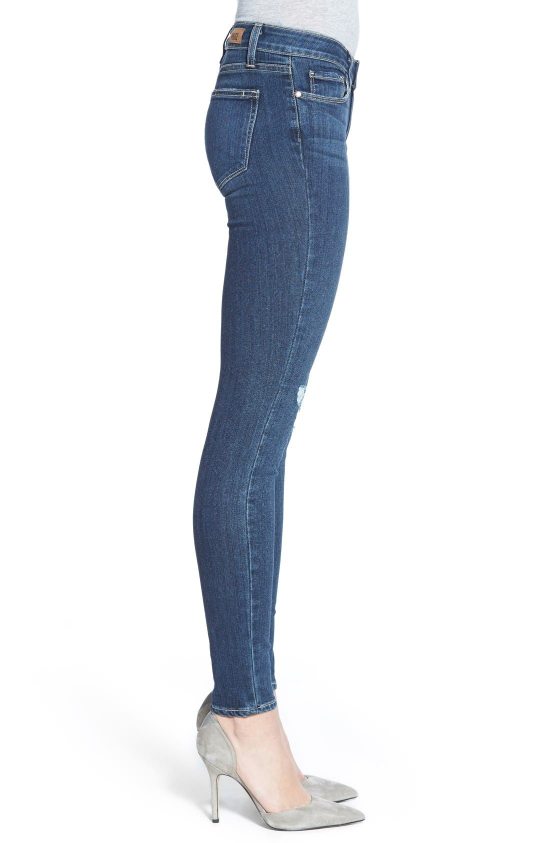 Alternate Image 3  - Paige Denim 'Transcend - Verdugo' Ultra Skinny Jeans (Elia Destructed)