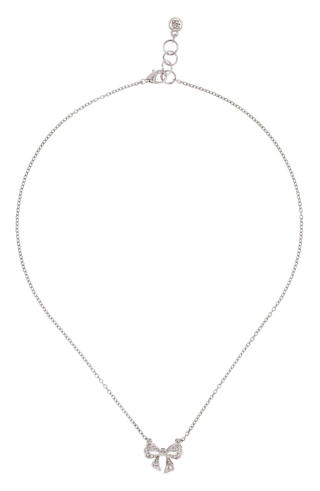 Alternate Image 2  - Ted Baker London 'Pepena' Crystal Bow Pendant Necklace