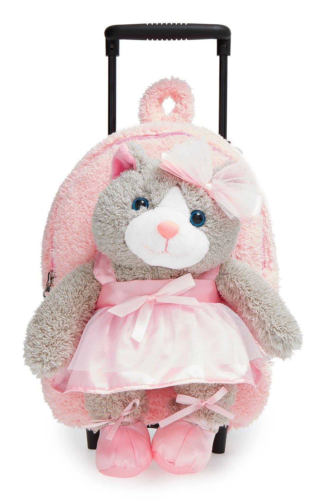 Popatu 'Ballet Kitty' Rolling Backpack (Kids)