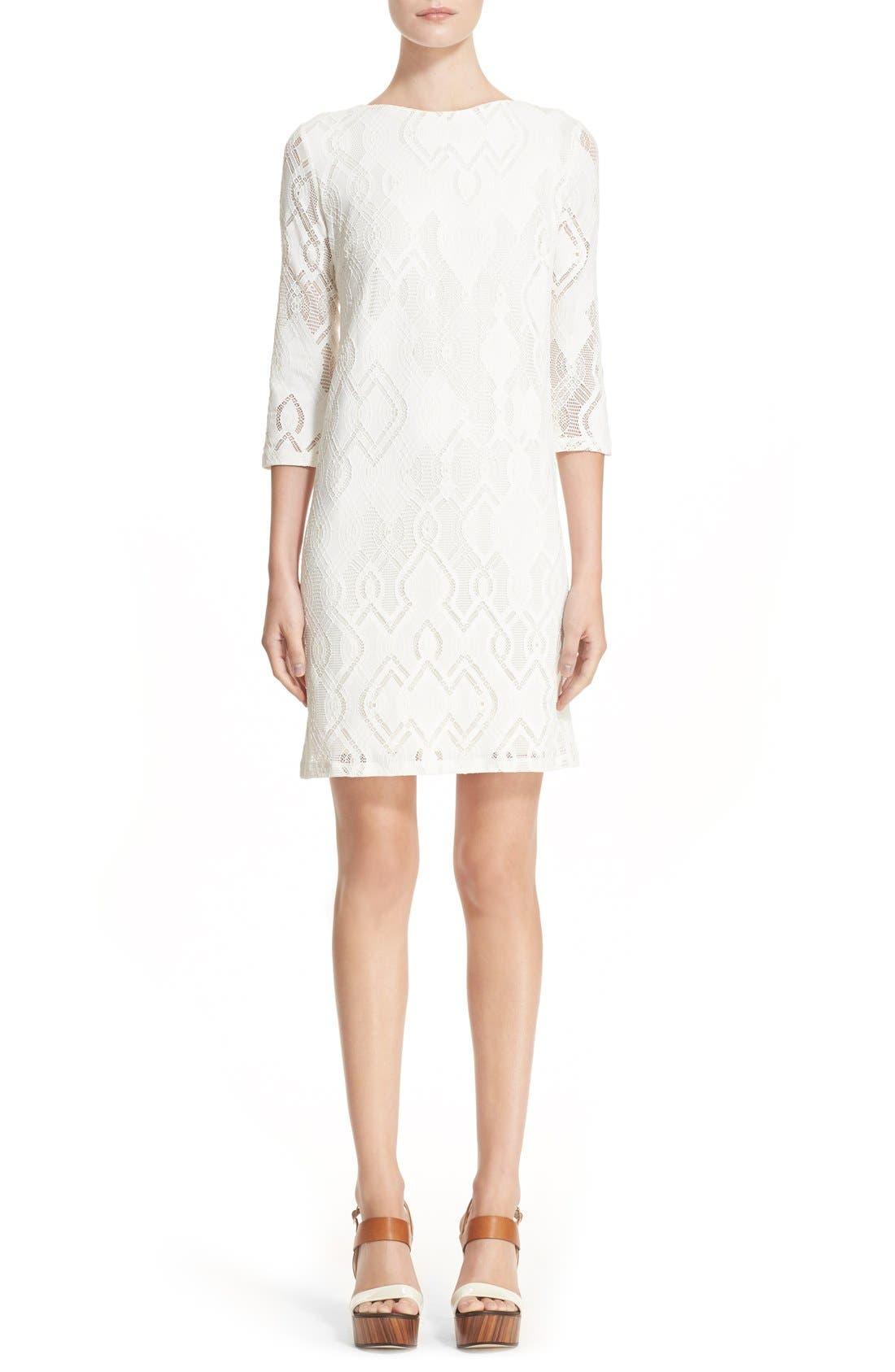 Alternate Image 1 Selected - Fuzzi Lace Shift Dress