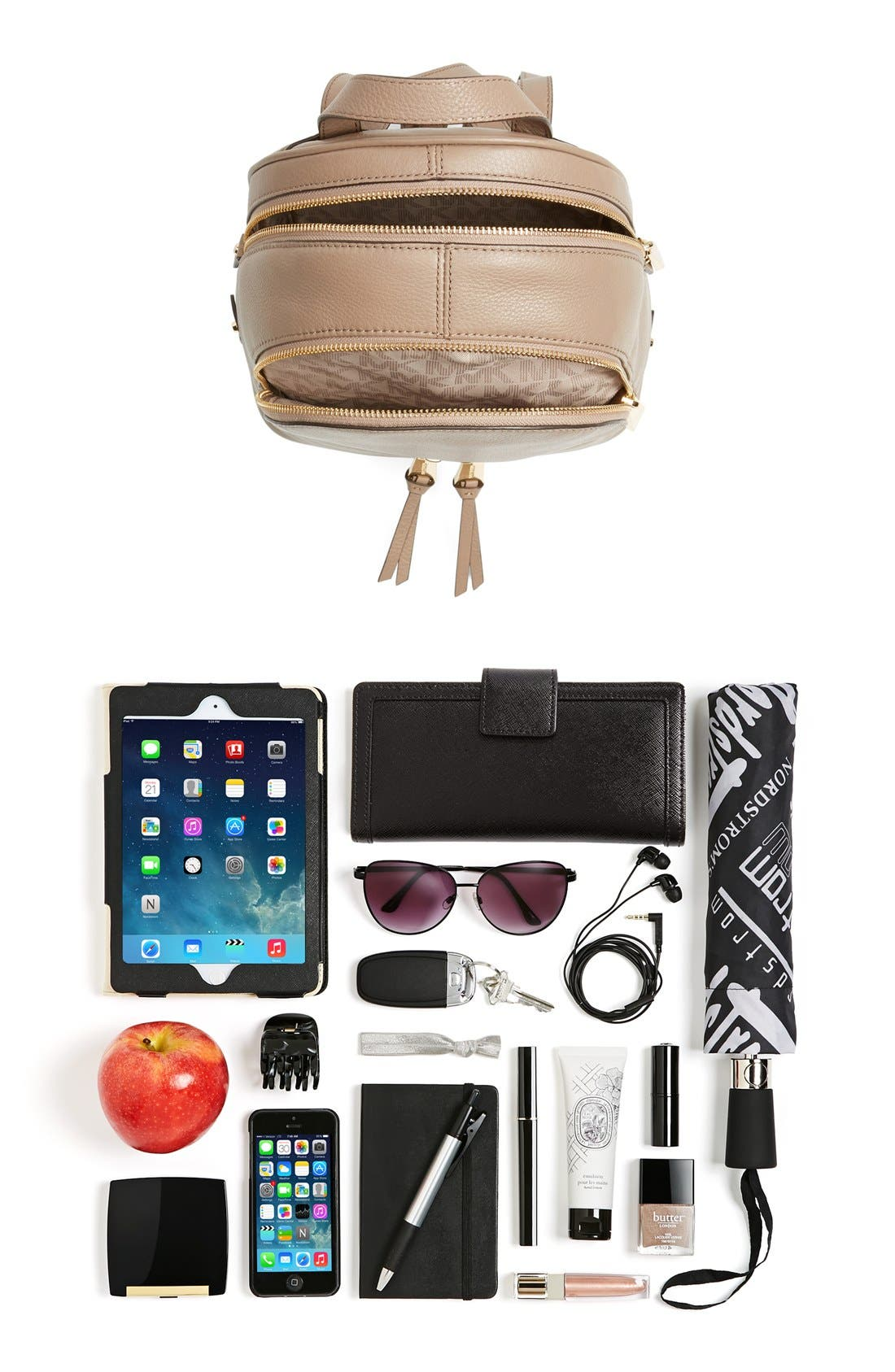 Alternate Image 7  - MICHAEL Michael Kors 'Extra Small Rhea Zip' Leather Backpack
