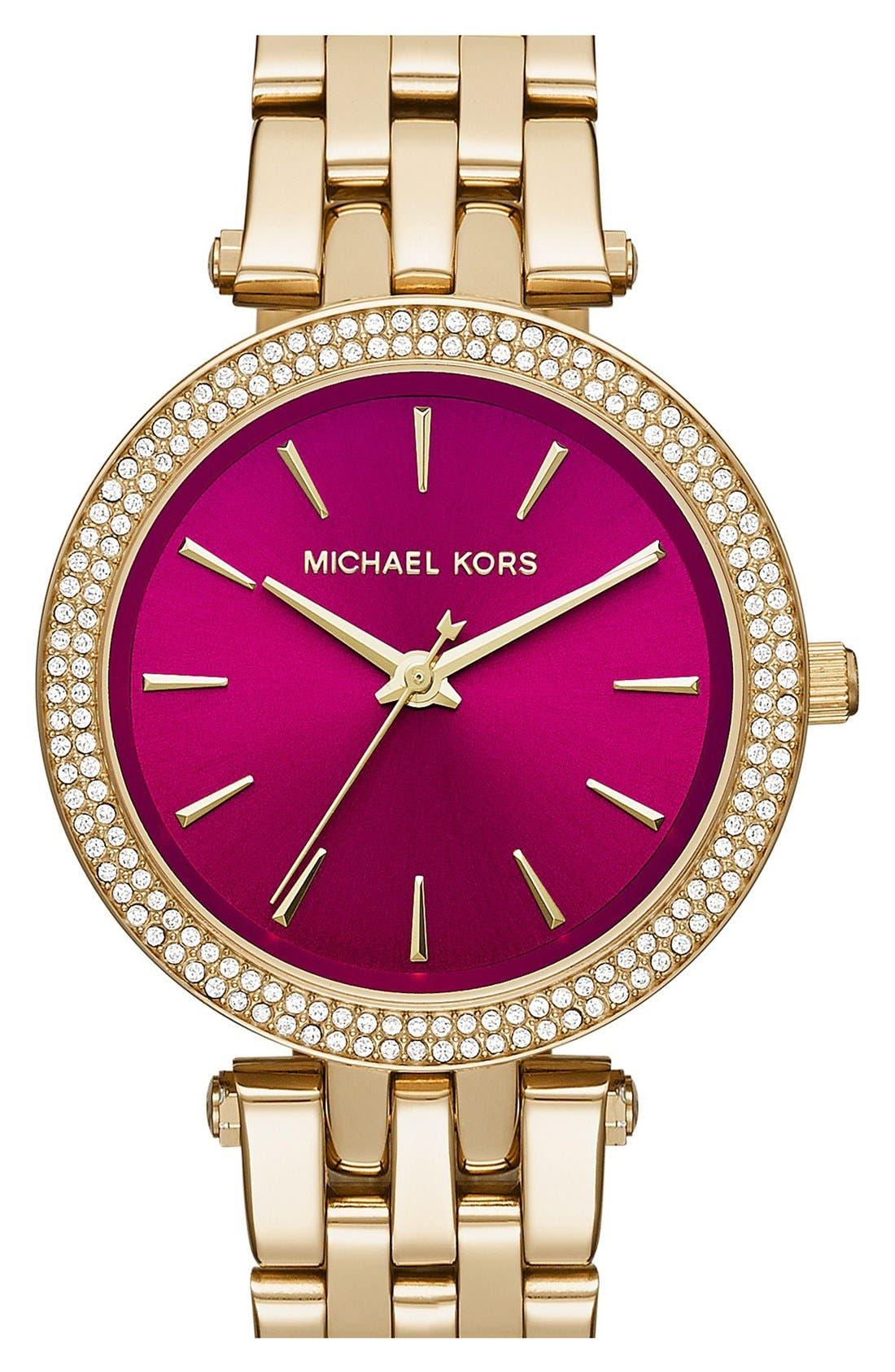 Alternate Image 1 Selected - MICHAEL Michael Kors'Mini Darci' Bracelet Watch,33mm