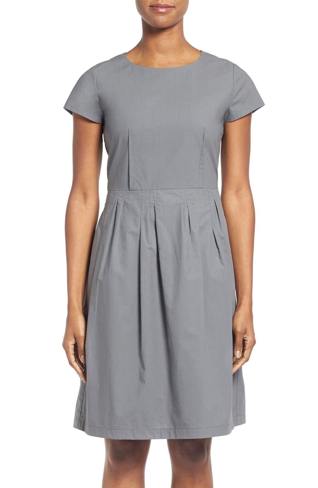 Main Image - Lafayette 148 New York 'Gina' Cap Sleeve Fit & Flare Dress