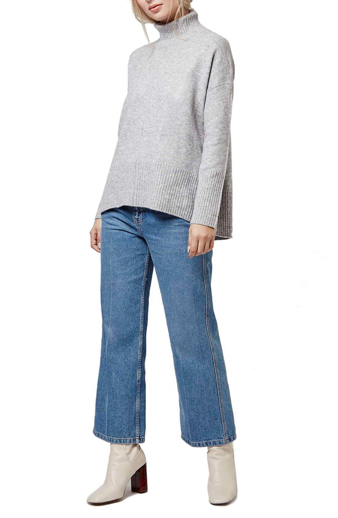 Alternate Image 2  - Topshop Oversize Funnel Neck Sweater