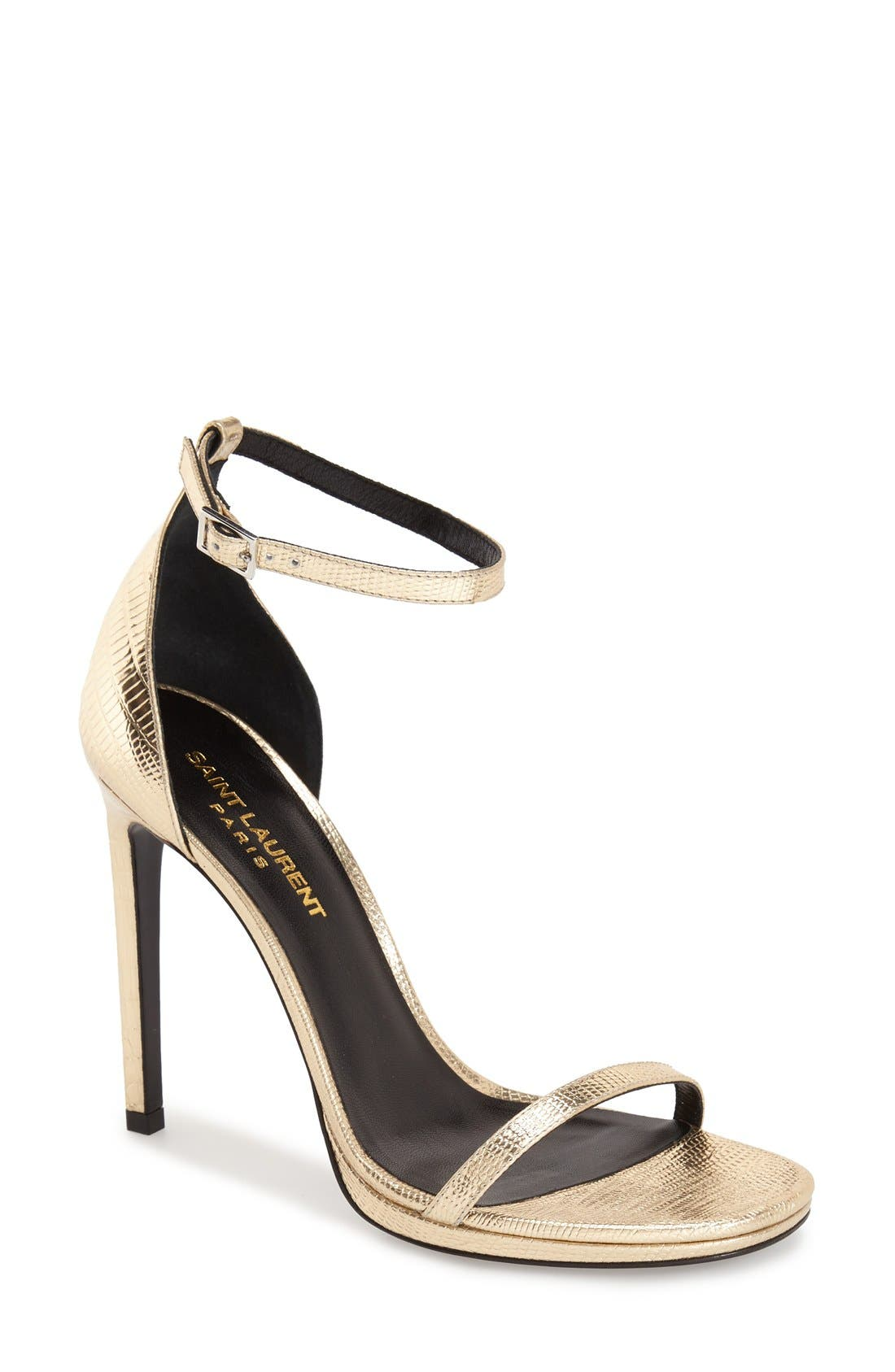 Main Image - Saint Laurent 'Jane' Ankle Strap Leather Sandal (Women)
