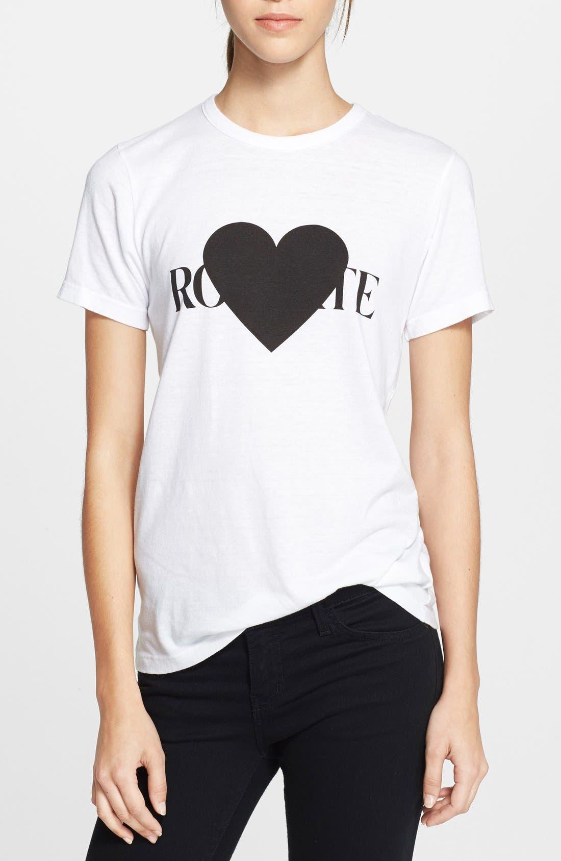 Alternate Image 1 Selected - Rodarte 'Rohearte' Heart Graphic Tee