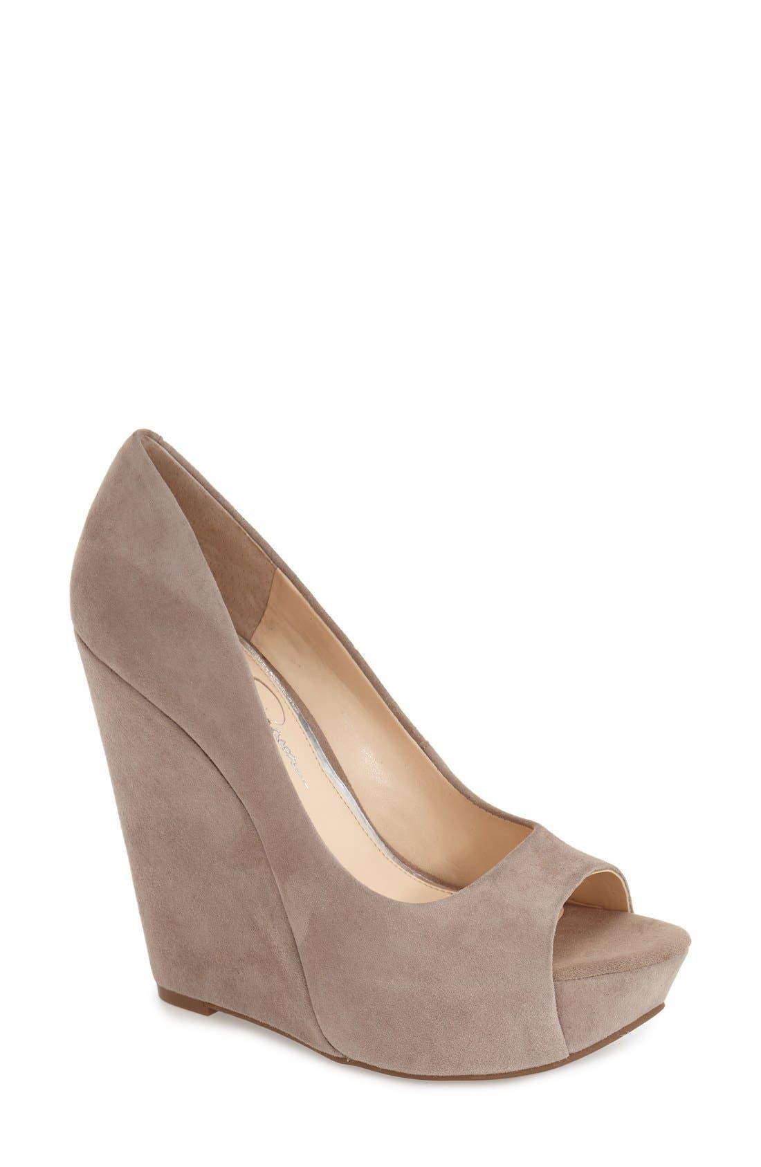 Alternate Image 1 Selected - Jessica Simpson 'Bethani' Wedge Platform Sandal (Women)