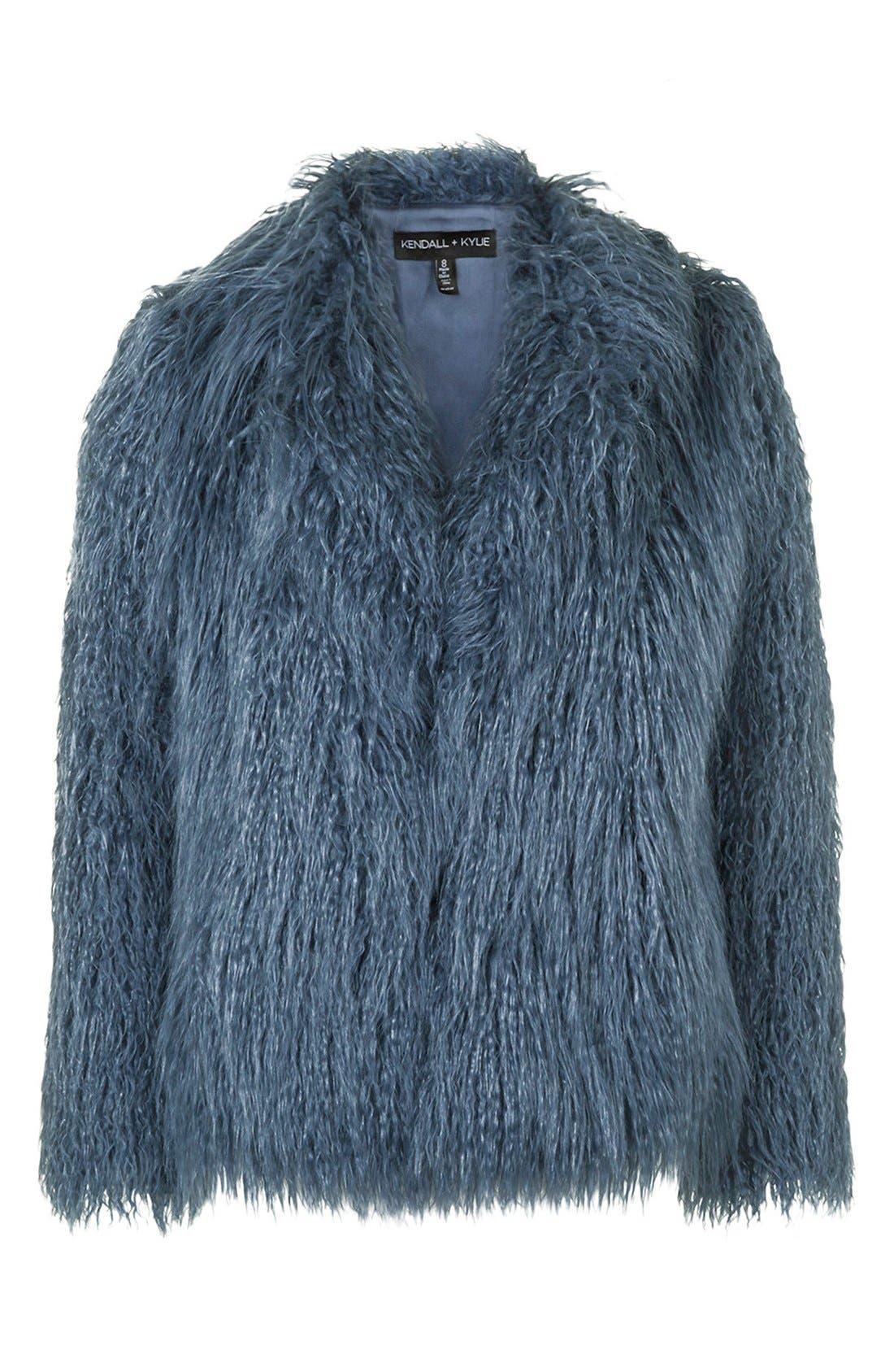 Alternate Image 4  - KENDALL + KYLIE at Topshop Faux Fur Coat