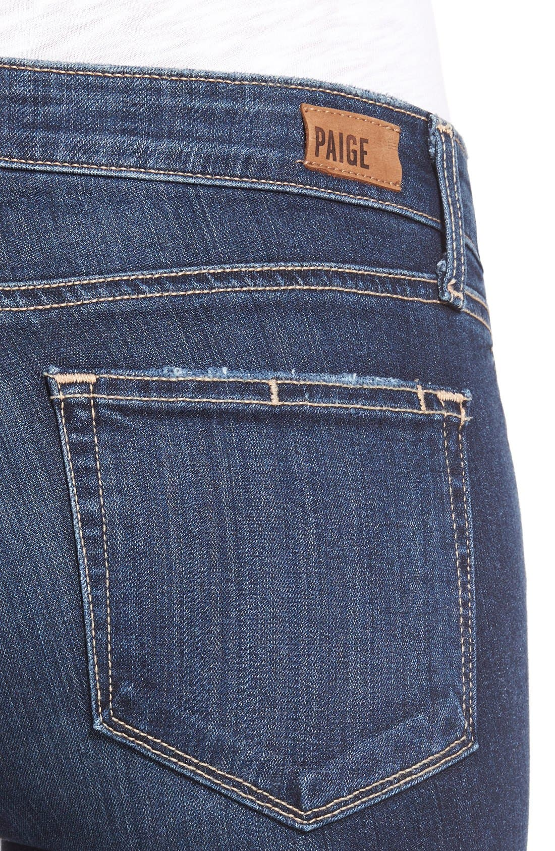 Alternate Image 4  - Paige Denim 'Skyline' Ankle Peg Jeans (Elia Deconstructed)