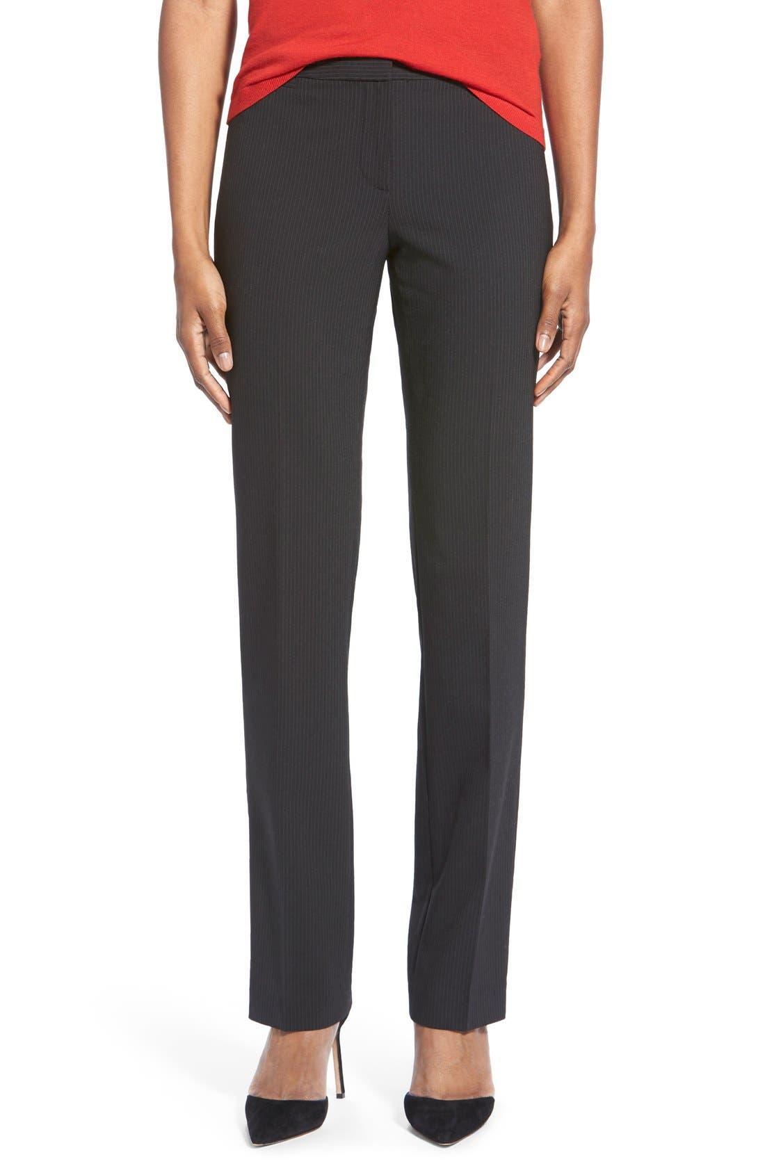 Main Image - Halogen® Pinstripe Stretch Suit Pants (Regular & Petite)