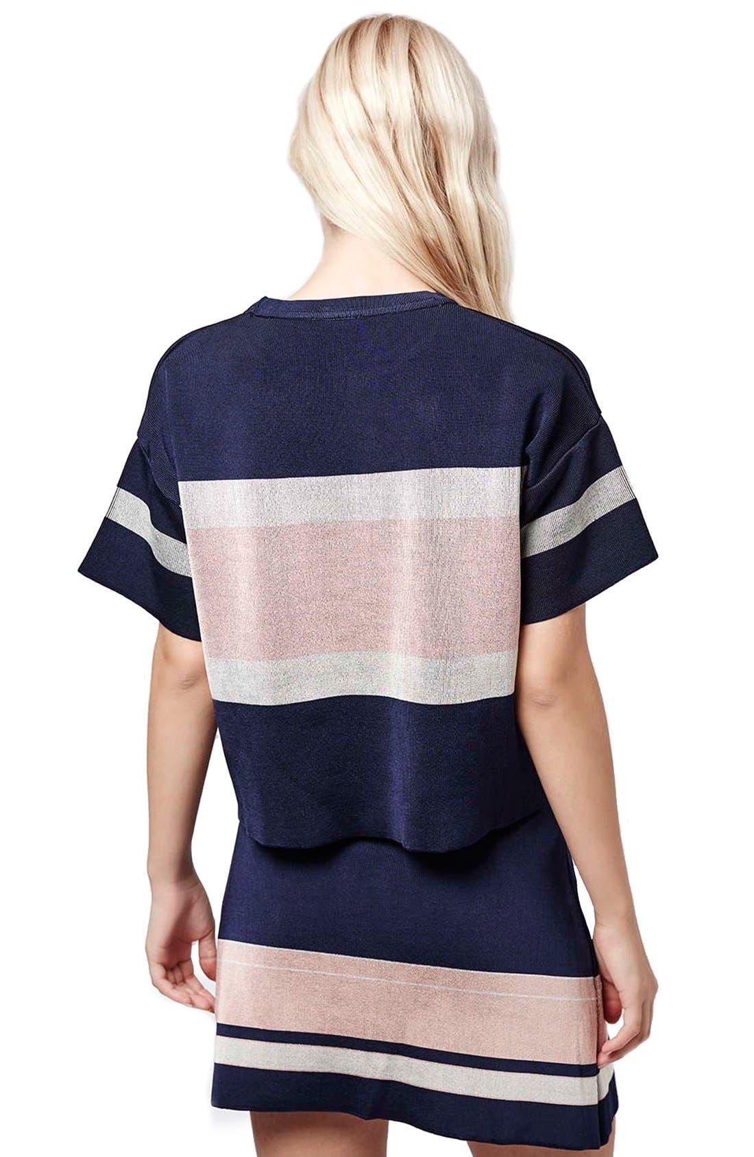 Alternate Image 3  - Topshop Modern Stripe Boxy Tee