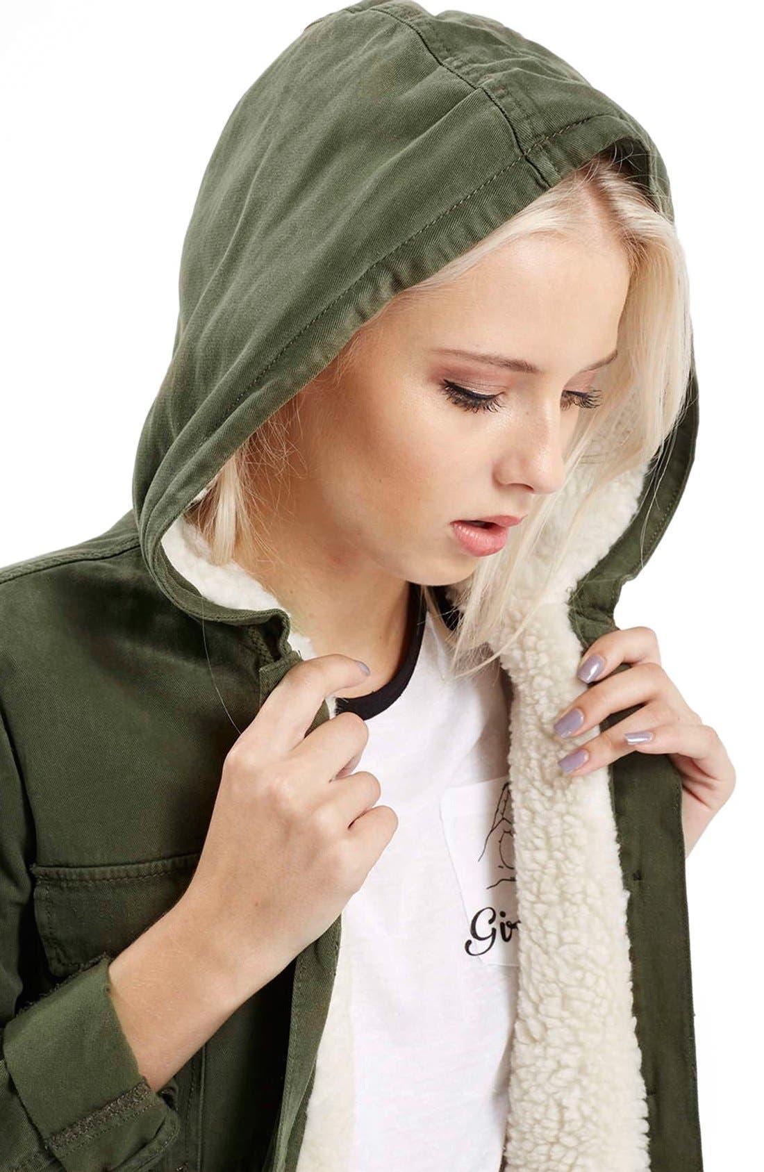 Alternate Image 6  - Topshop 'Esme' Faux Fur Lined Parka