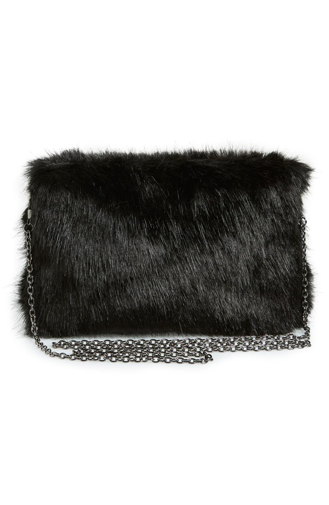 Alternate Image 3  - No Brand Needed Faux Fur Convertible Clutch