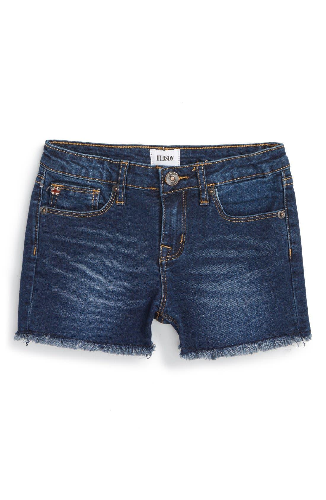 Alternate Image 1 Selected - Hudson Kids Cutoff Denim Shorts (Toddler Girls & Little Girls)