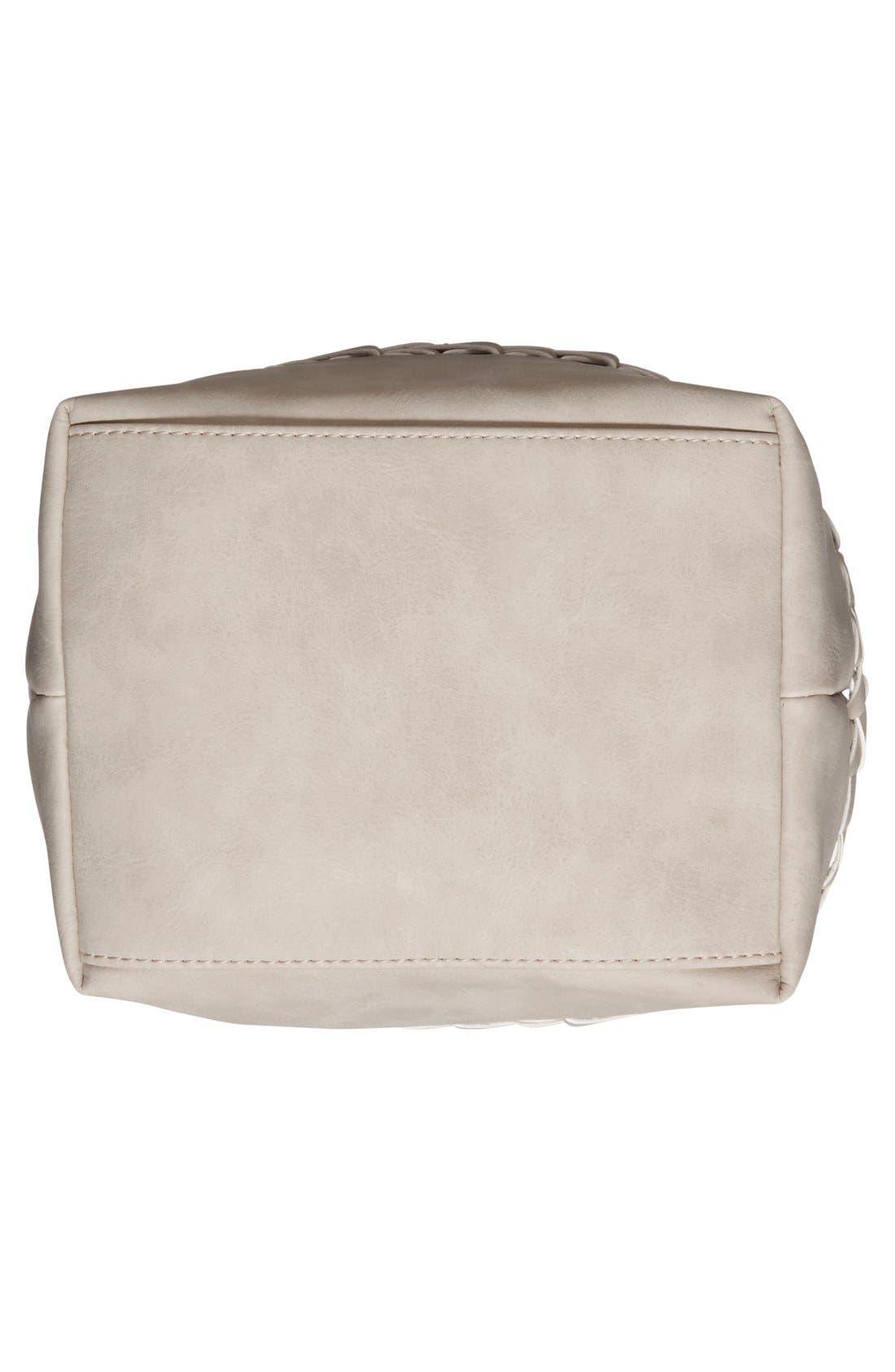 Alternate Image 6  - Dolce Girl Woven Detail Bucket Bag