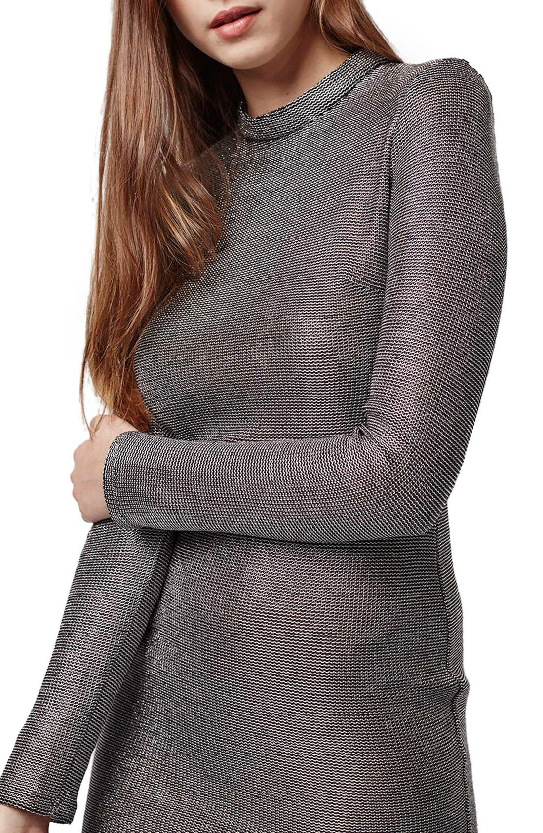 Alternate Image 5  - Topshop Mock Neck Chainmail Body-Con Dress