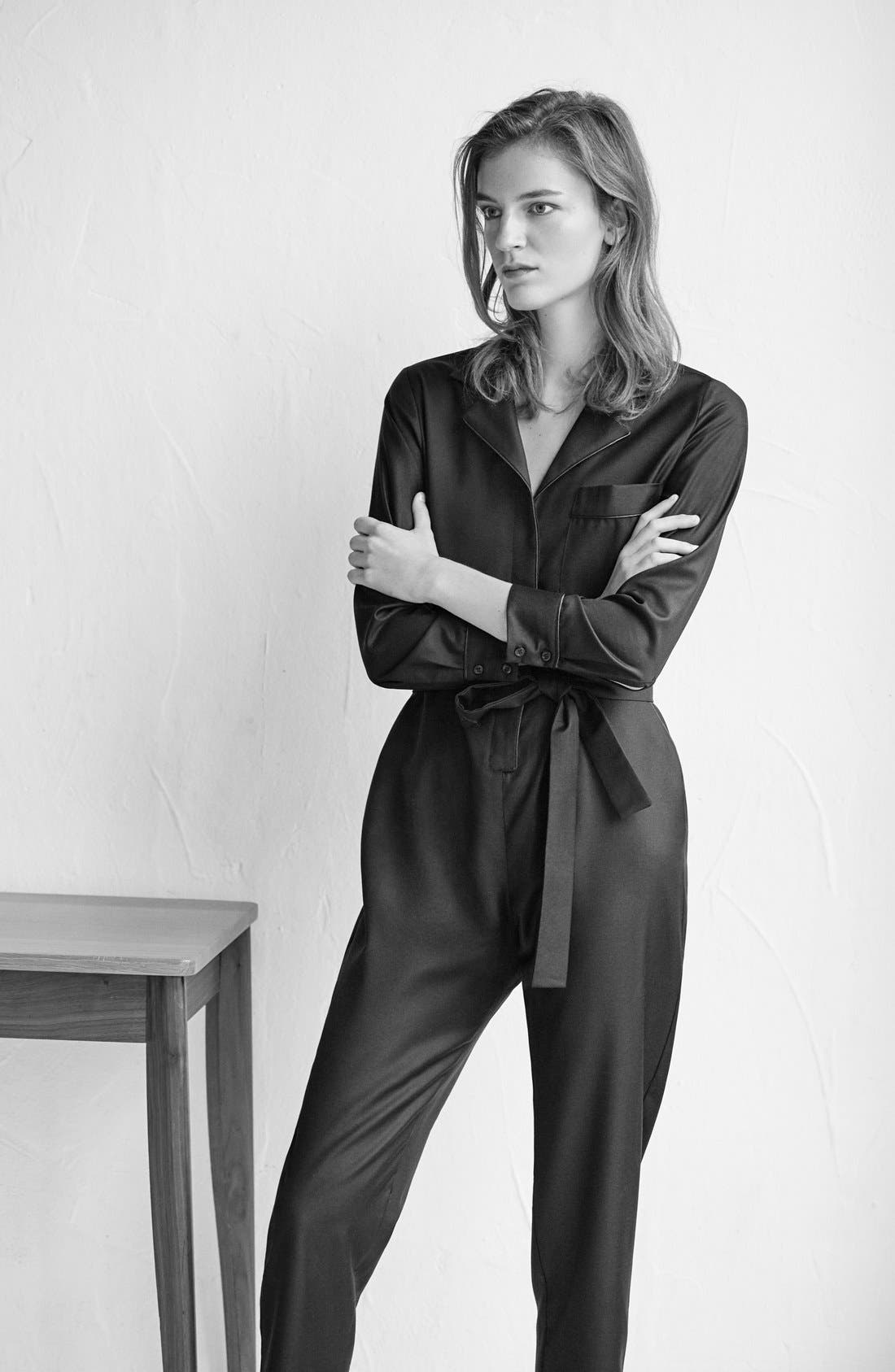 Alternate Image 5  - Topshop Boutique Tailored PJ Jumpsuit