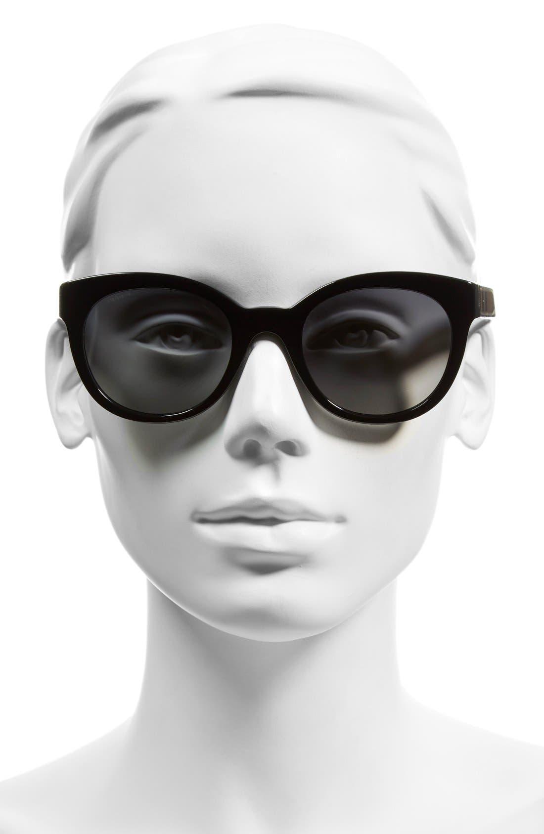 Alternate Image 2  - Burberry 52mm Polarized Retro Sunglasses