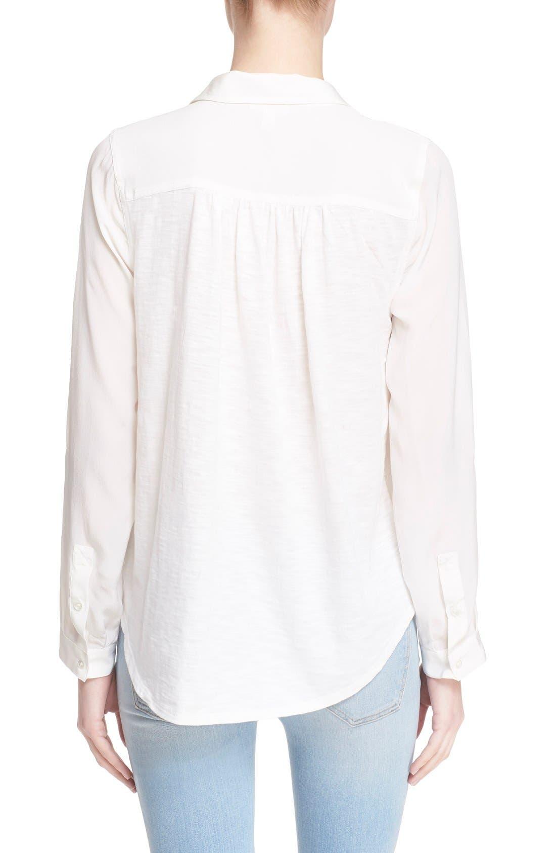 Alternate Image 2  - Soft Joie 'Trikonis' Mixed Media Silk & Cotton Top