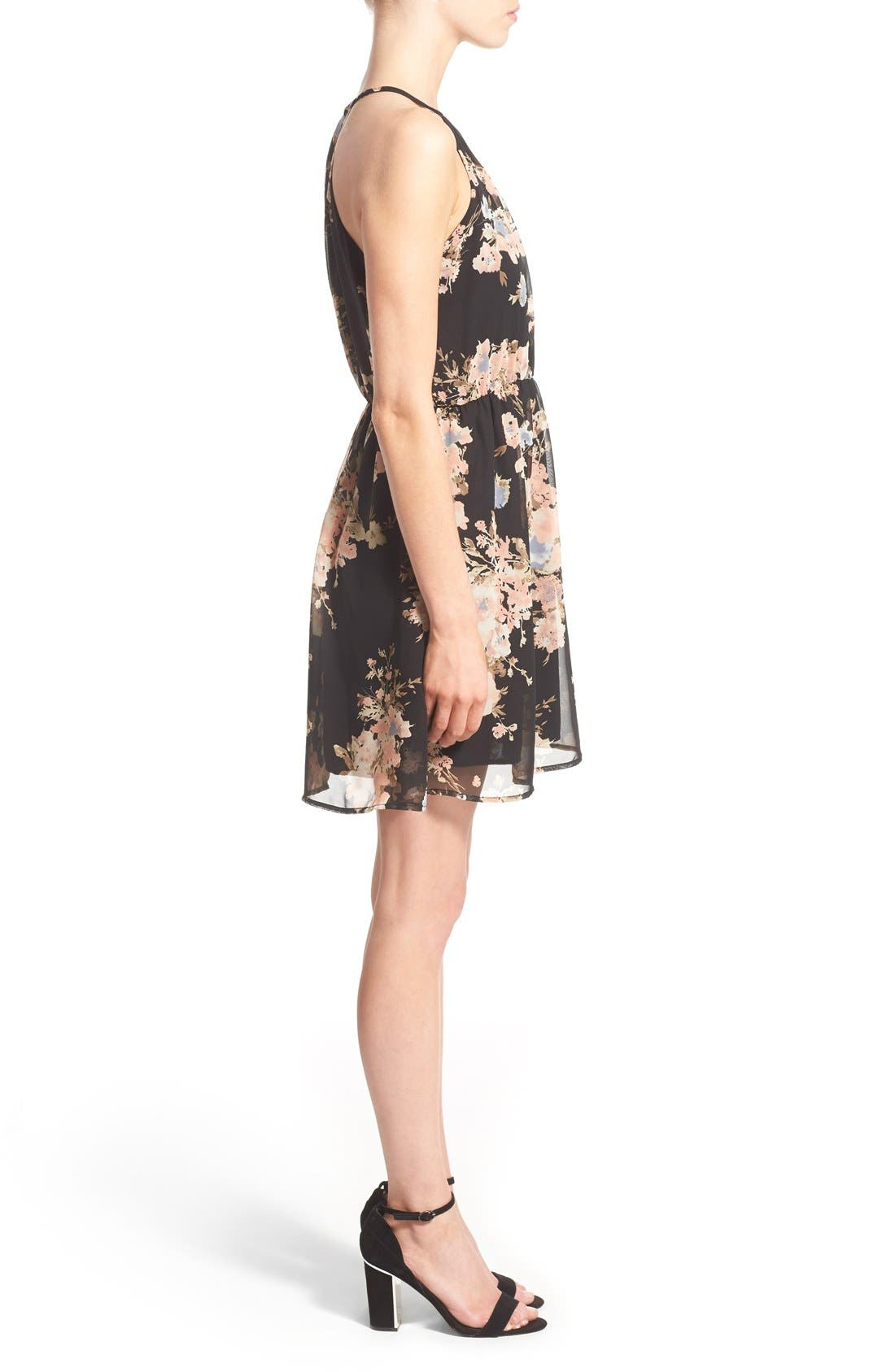 Alternate Image 3  - Sienna Sky Surplice Skater Dress