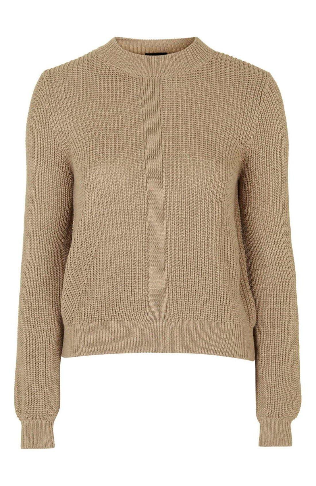 Alternate Image 4  - Topshop Mock Neck Pullover Sweater