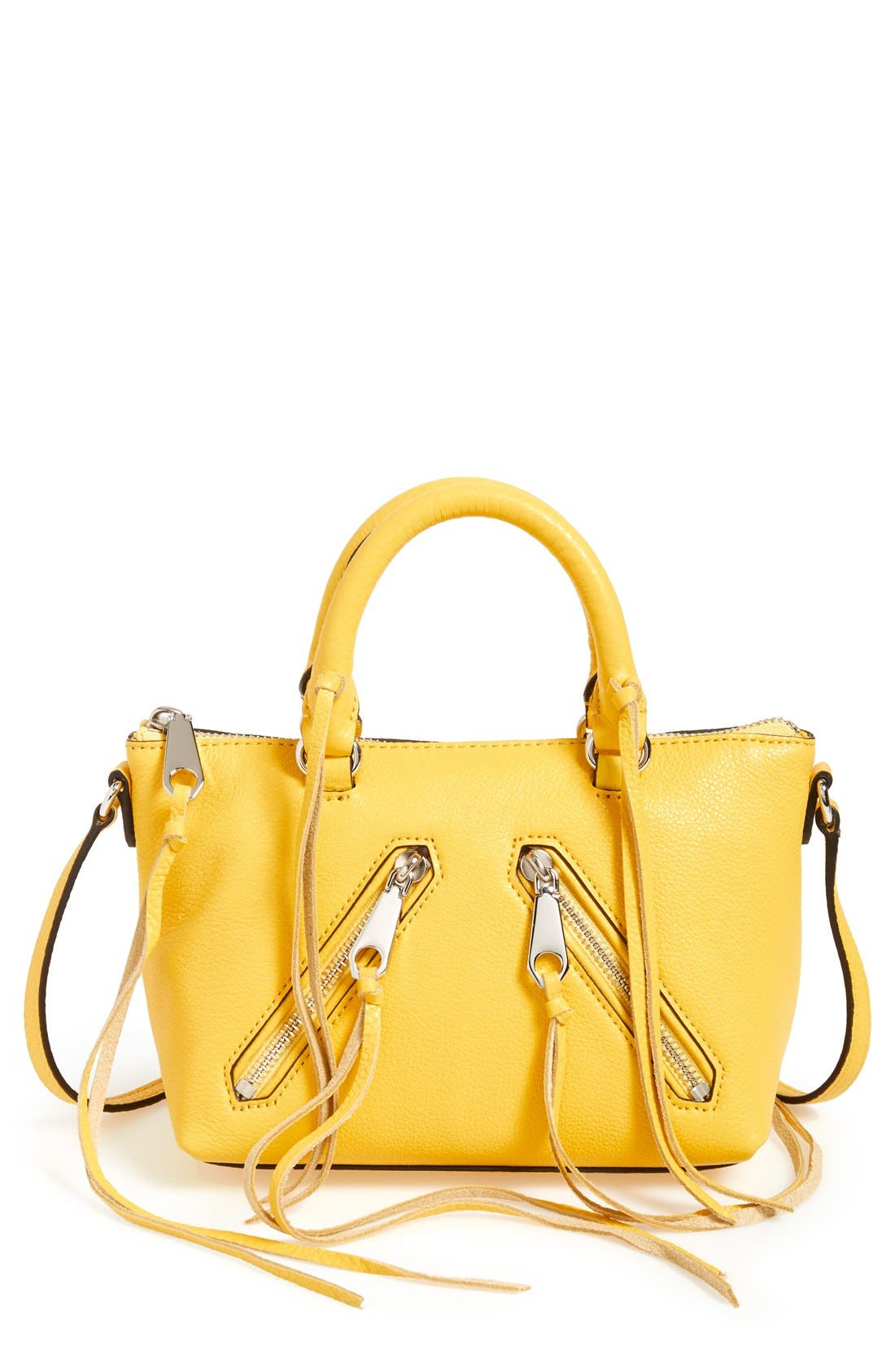 Alternate Image 1 Selected - Rebecca Minkoff 'Micro Moto' Leather Satchel
