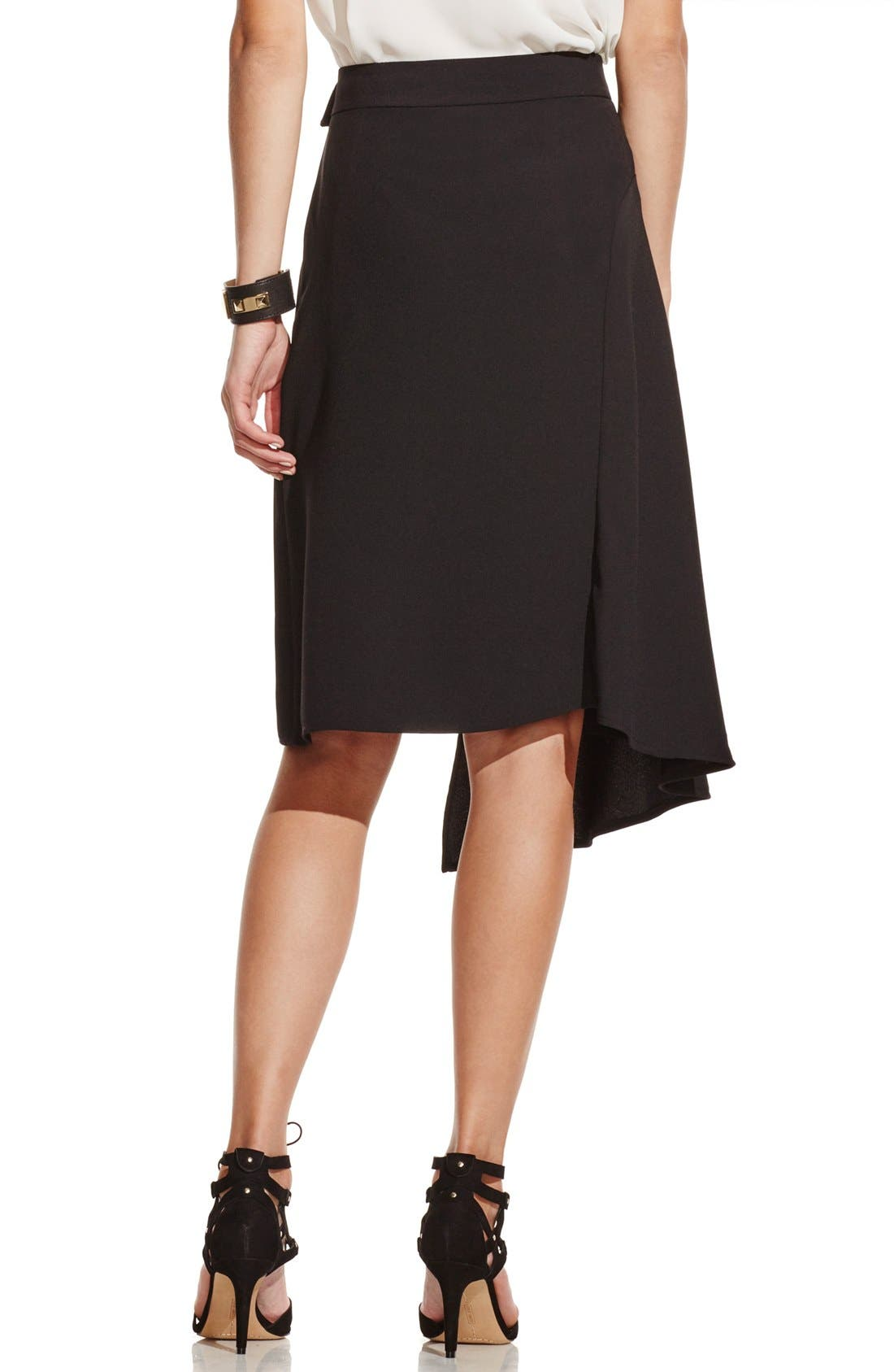 Alternate Image 2  - Vince Camuto Asymmetrical Belted Wrap Skirt