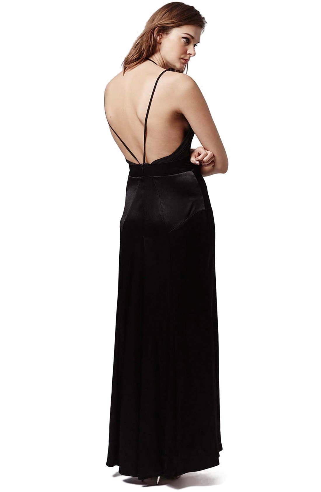 Alternate Image 2  - Topshop Satin Maxi Dress