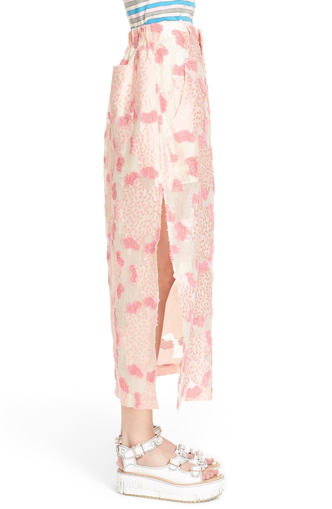 Alternate Image 4  - Julien David Fil Coupé Floral Jacquard Skirt