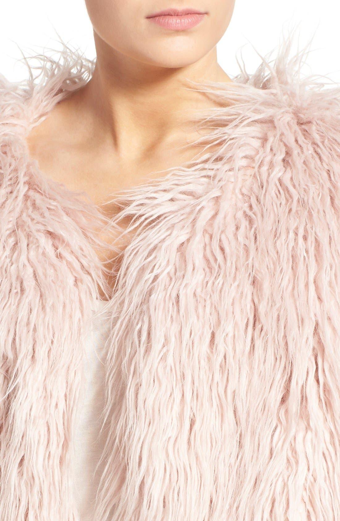 Alternate Image 4  - Pam & Gela 'Mongolian' Faux Fur Coat