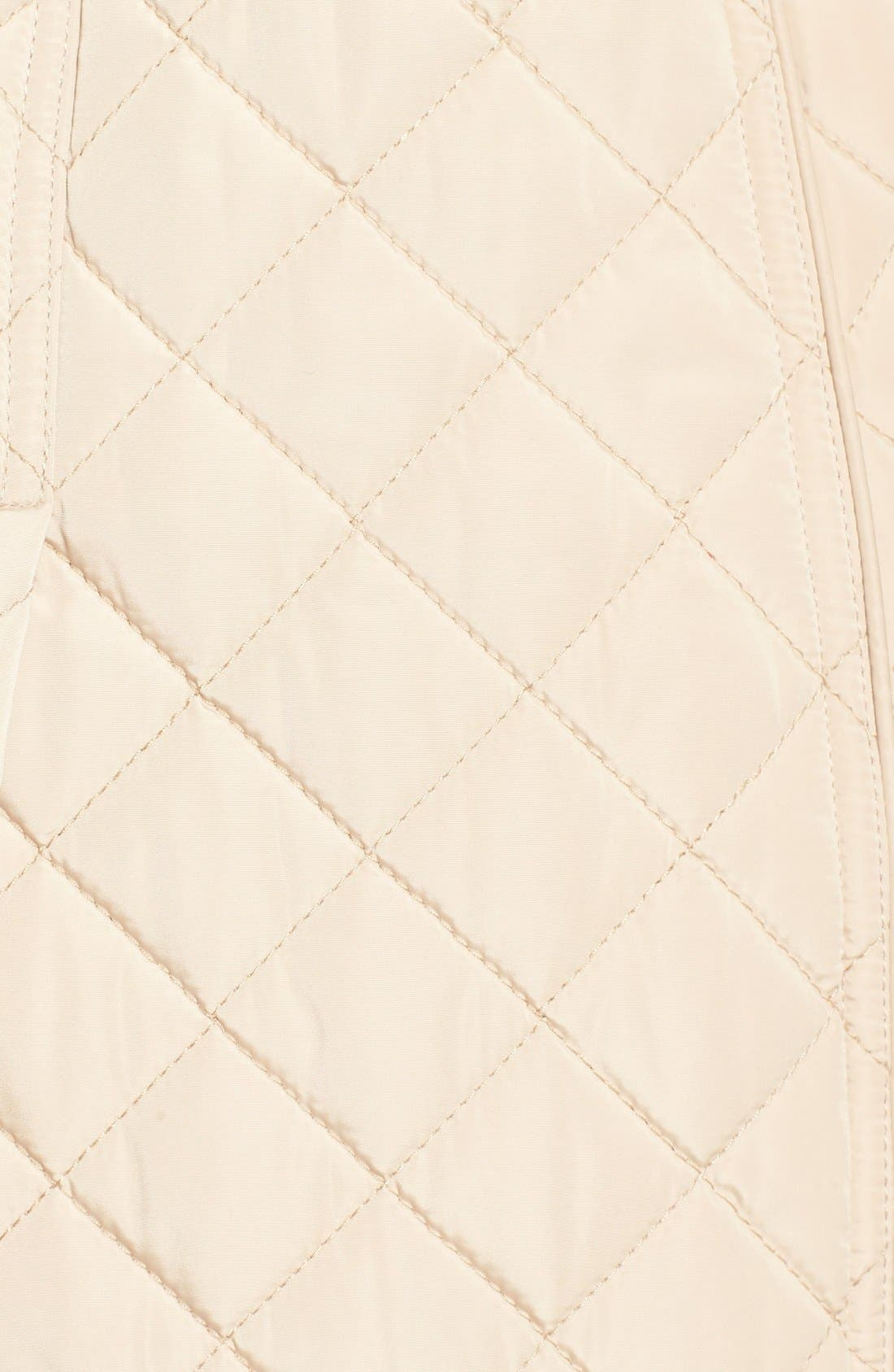 Alternate Image 5  - Calvin Klein Belted Hooded Quilted Coat